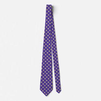 Cravate Motif pourpre de conception de couleurs d'or de