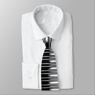 Cravate Motif rayé noir et blanc frais