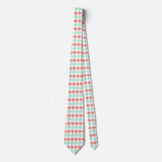 Cravate Motif rose et en bon état de corail de