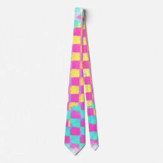 Cravate Motif sale en bon état à la mode de damier de