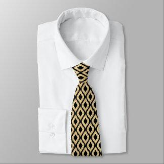 Cravate Motif tribal de Faux d'or de parties scintillantes