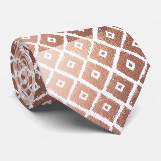 Cravate Motif tribal de feuille d'or rose de Faux