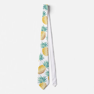 Cravate Motif tropical d'ananas Aloha