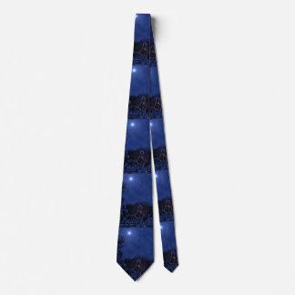 Cravate Nativité de nuit étoilée
