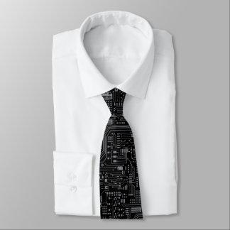 Cravate noire de circuits