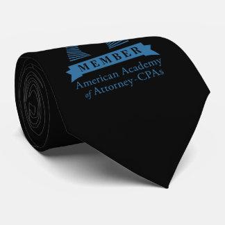 Cravate noire de membre d'AAA-CPA