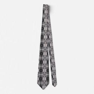 Cravate noire et blanche punk de vapeur de vitesse