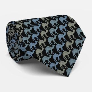 Cravate noire grise d'Armani de cravate de chameau