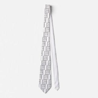 Cravate nombres à chaînes