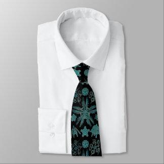 Cravate Ophiodea dans la turquoise et le noir