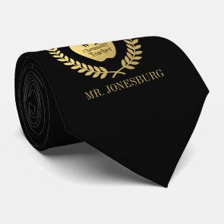 Cravate Or fait sur commande de Faux de noir de professeur