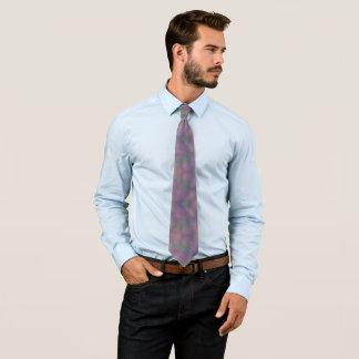 Cravate Or vert pourpre magenta abstrait