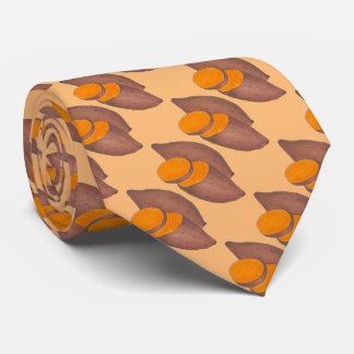 Cravate orange de fin gourmet de pommes de terre