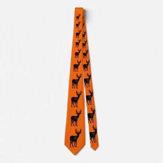 Cravate Orange de lien de chasse de cerfs communs