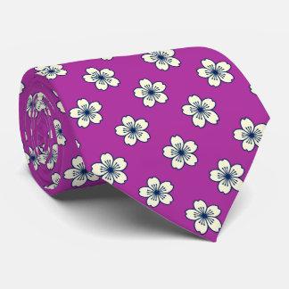 Cravate Orchidée rayonnante florale hawaïenne de ketmie