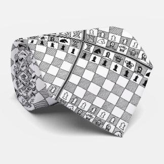 Cravate orientée noire et blanche de jeu de