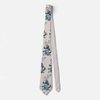 Cravate ornée avec un personnage de bandes