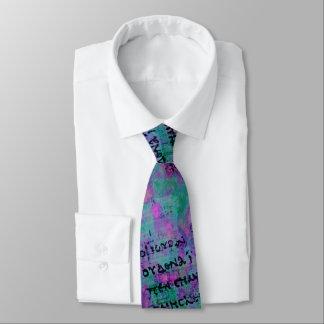 Cravate P52 psychédélique - plus foncée