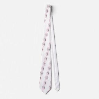 Cravate Pandas de mariage, arrière - plan rose