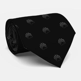Cravate Patte d'ours métallique (noir)