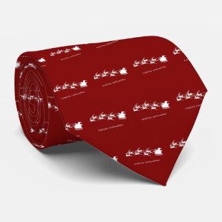 Cravate Père Noël sur Sleigh Fröhliche Weihnachten