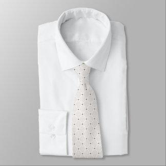 Cravate Petit motif de points blanc noir élégant