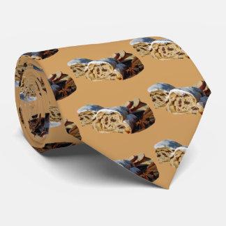 Cravate Petit pain de cannelle de Noël