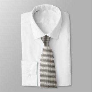Cravate Pied-de-poule de combinaison de Brown par Shirley
