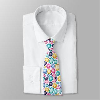 Cravate Pierres gemmes brillantes Girly chics de diamant