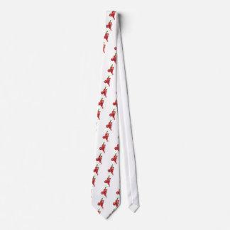 Cravate Pointage de poivre de piments rouges de diable de