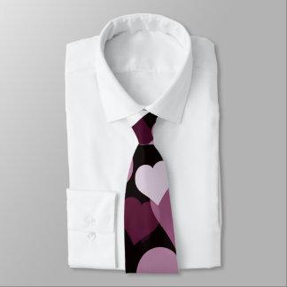 Cravate pourpre de coeurs de Valentine