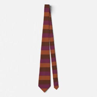 Cravate Pourpre horizontal de Brown de rayures d'art