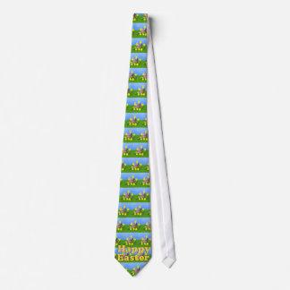 Cravate Poussins 'n un panier de Pâques
