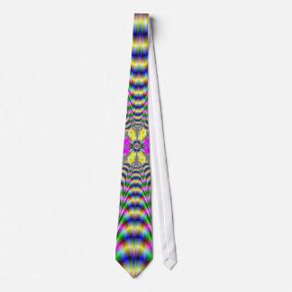 Cravate psychédélique de fleur