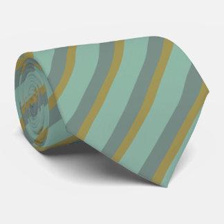 Cravate Rayures - argent d'or de turquoise