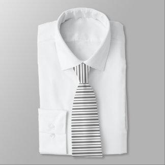 Cravate Rayures épaisses et minces de gris et de blanc de