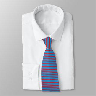 Cravate Rayures épaisses et minces de rouge et de
