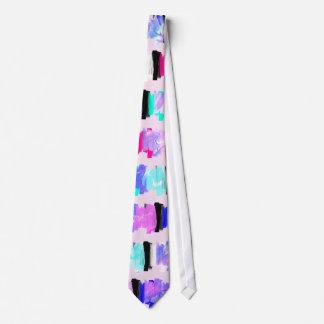 Cravate Rayures Girly de course de brosse d'aquarelle