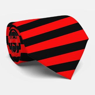 Cravate rayures noir et rouge