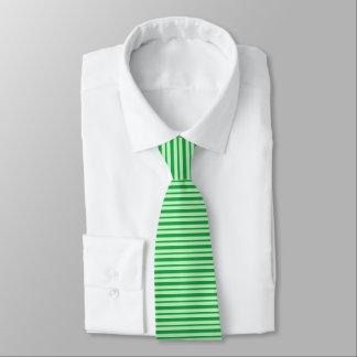 Cravate Rayures vertes épaisses et minces