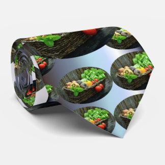 Cravate Récolte végétale de thanksgiving dans un panier