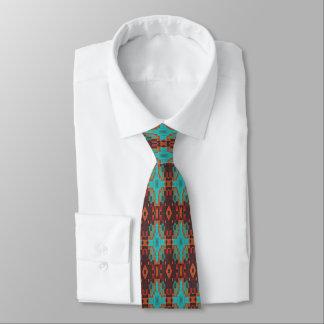 Cravate Regard ethnique éclectique de rouge orange de