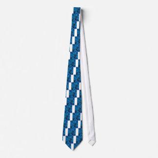 Cravate Rétro microphone bleu