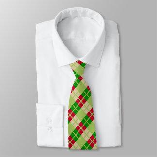 Cravate Rétro motif de plaid de Noël