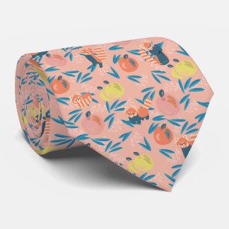 """Cravate rose de corail d'Apple """"de panda rouge"""""""