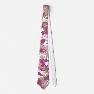 Cravate rose faite sur commande de Camo
