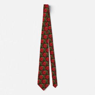 Cravate rouge de fleur
