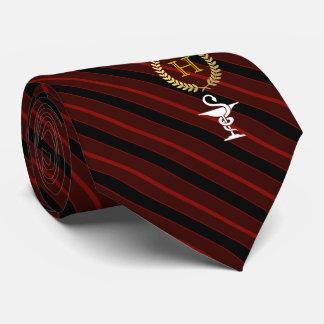 Cravate Rouge de monogramme encadré par professionnel de
