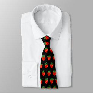 Cravate rouge de motif de fraise