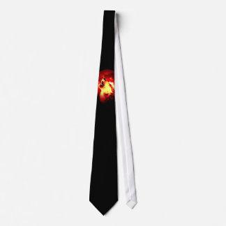 Cravate rouge de nuit de lune de loup